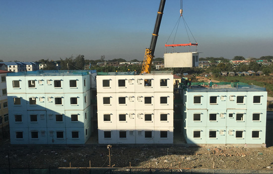 Yuzana Low Cost Housing Project(Precast Box System)